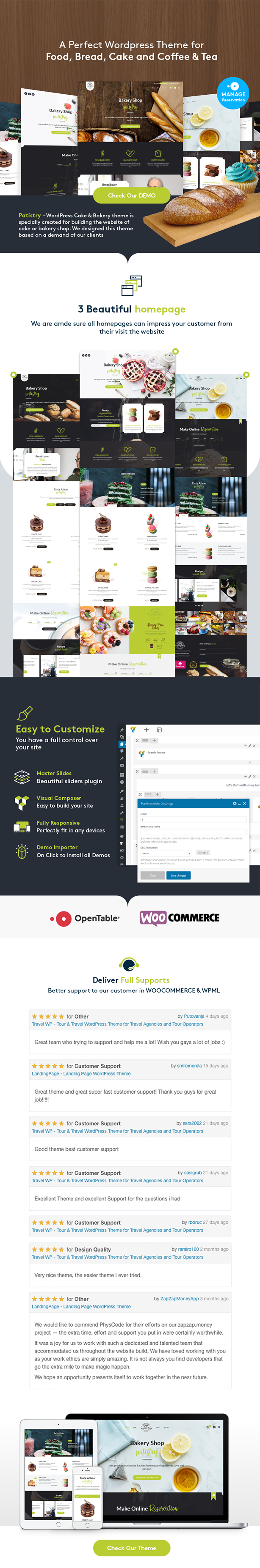 Patistry - Cake & Bakery WordPress Theme