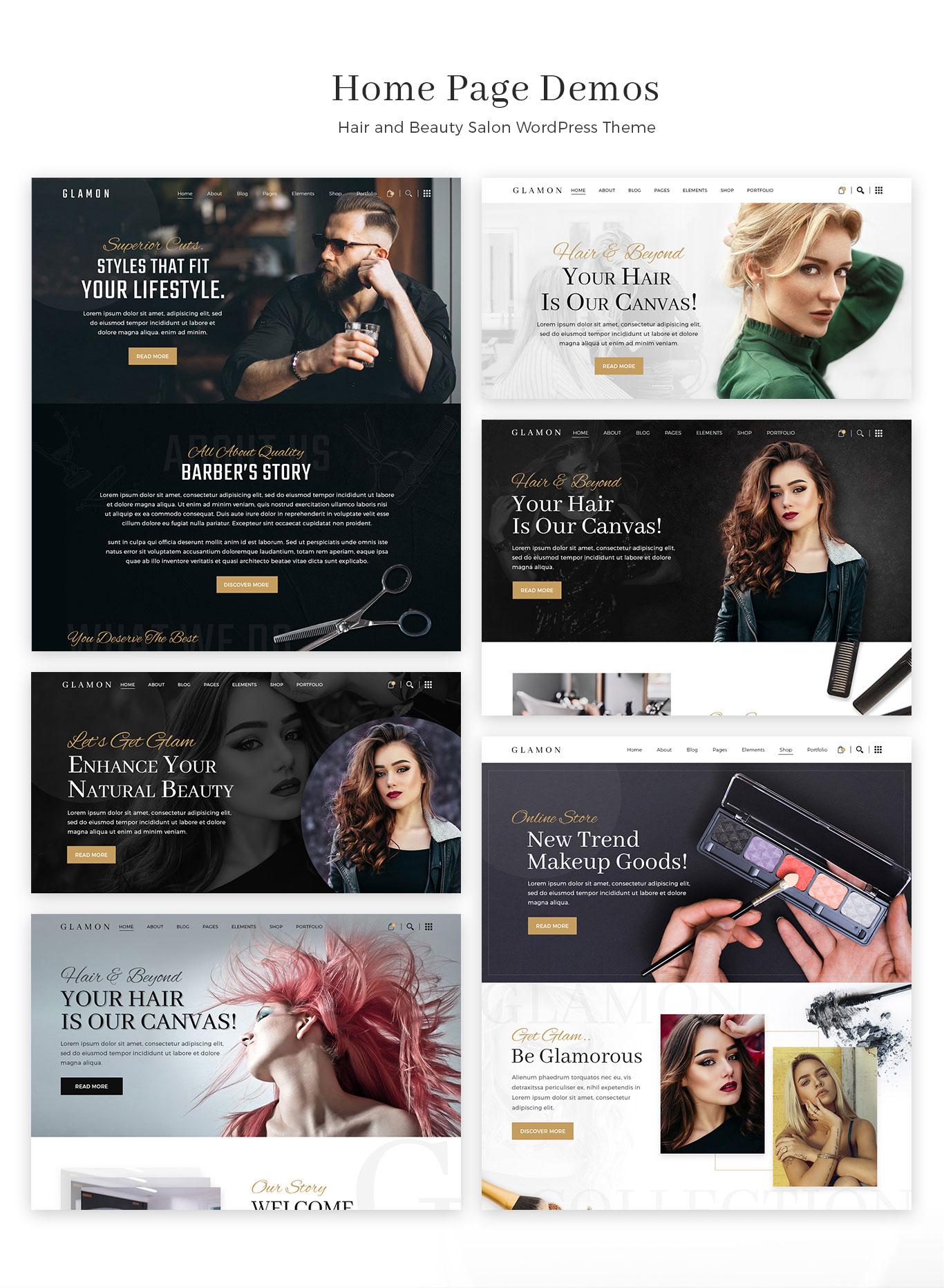 Glamon - Salon & Barber Shop Theme by radiantthemes   ThemeForest