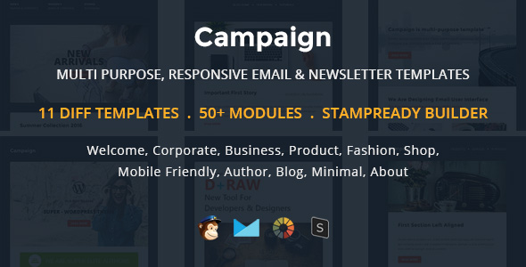 Tima - Multipurpose Email Notifications & Newsletter Templates - 2
