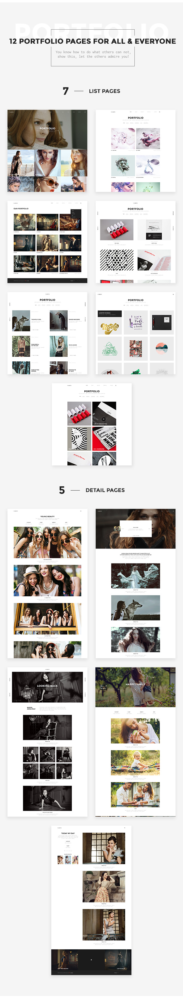 12 Portfolio Pages for all & everyone