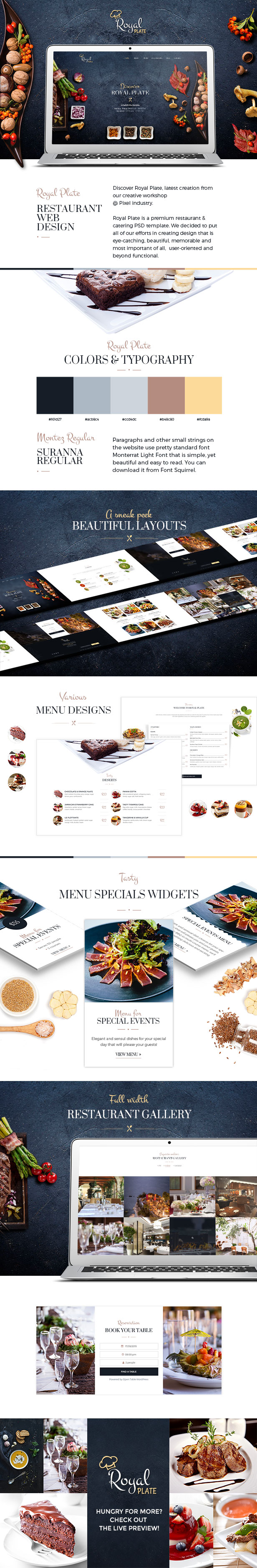 Royal Plate Restaurant & Catering PSD Template