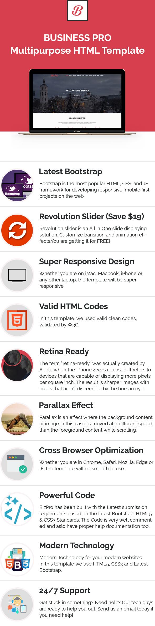 BizPro - Onepage Multipurpose Business WordPress Theme - 2