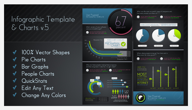 Advanced Infographic Charts and Templates - 6