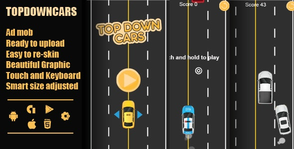 TopDown Cars html by azeemdreamsdesigner | CodeCanyon