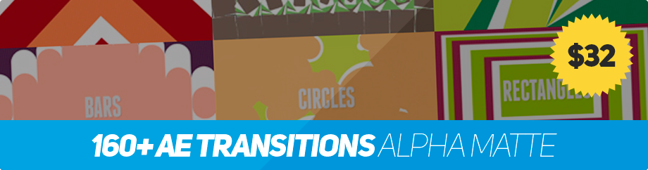 160+ AE Transitions Alpha Matte