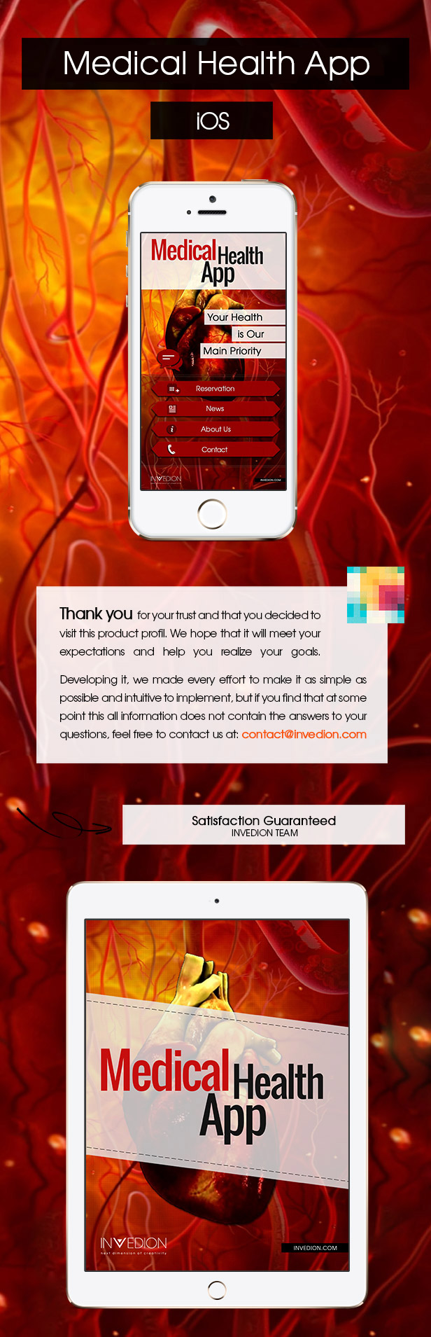 Medical Health App With CMS - iOS - 1