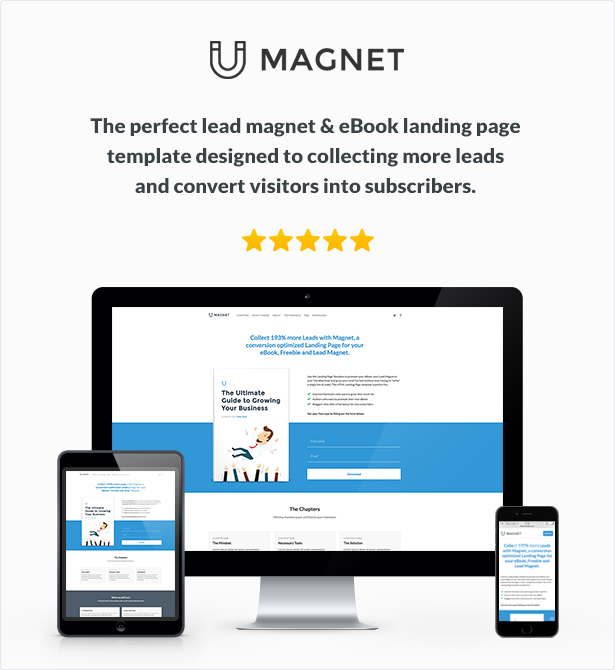magnet ebook lead magnet landing page by themekrauts themeforest. Black Bedroom Furniture Sets. Home Design Ideas