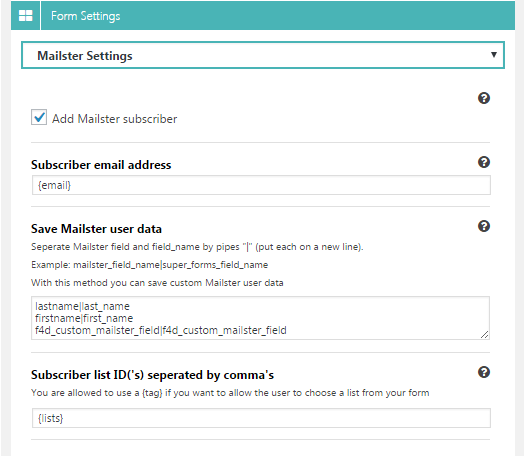 Super Forms - Mailster Add-on - 1