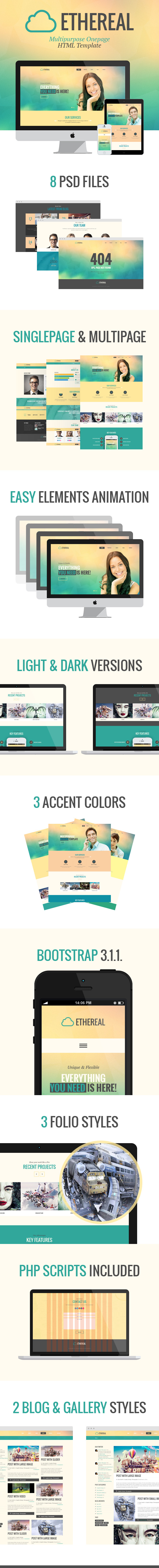 Ethereal - Multipurpose Parallax HTML Template - 1