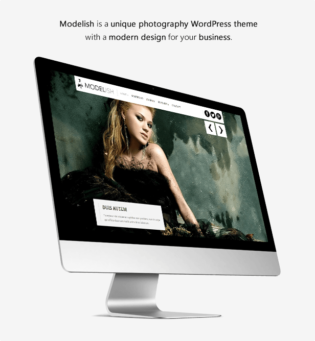 Modelish is a unique photography WordPress theme with a modern design for your business.