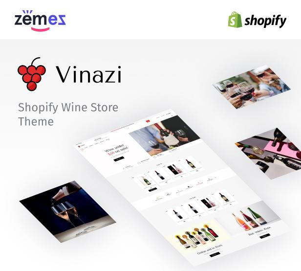 Vinazi - Shopify Wine Template eCommerce Theme - 1