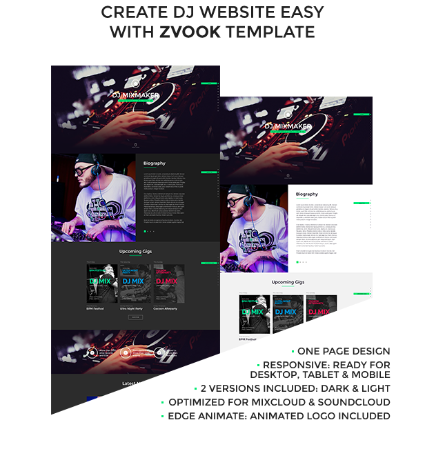 Zvook ultimate dj producer artist personal site muse for Dj biography template