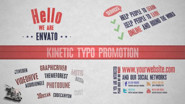 Kinetic Typo Promotion