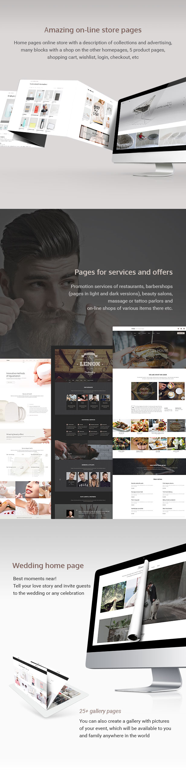 Lenox — Creative MultiConcept PSD Template by torbara | ThemeForest