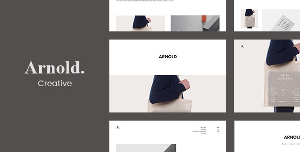 Minimallist WordPress Theme - Arnold