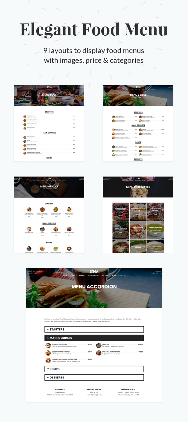 Dina - Restaurant, Bar, Cafe, Food WordPress Theme - 3