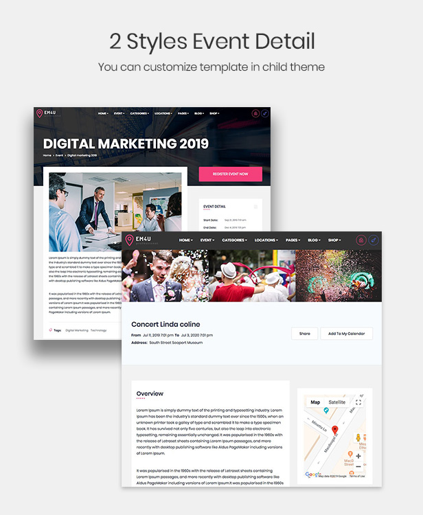 EM4U - Multiple Event  Conference WordPress Theme