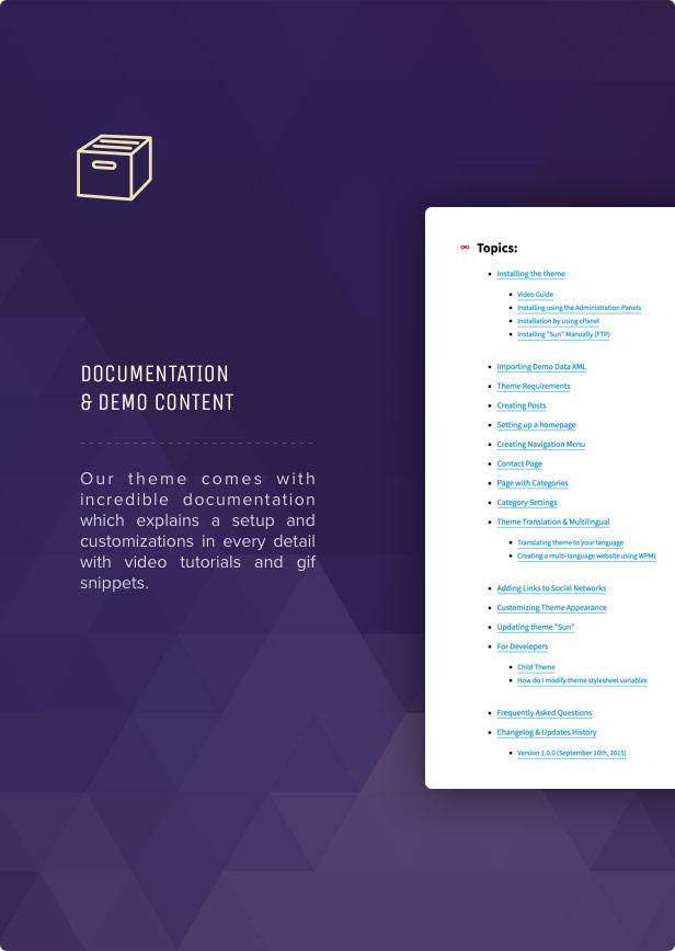 Sun - Grid News Blog with Affiliate links theme for WordPress - 14