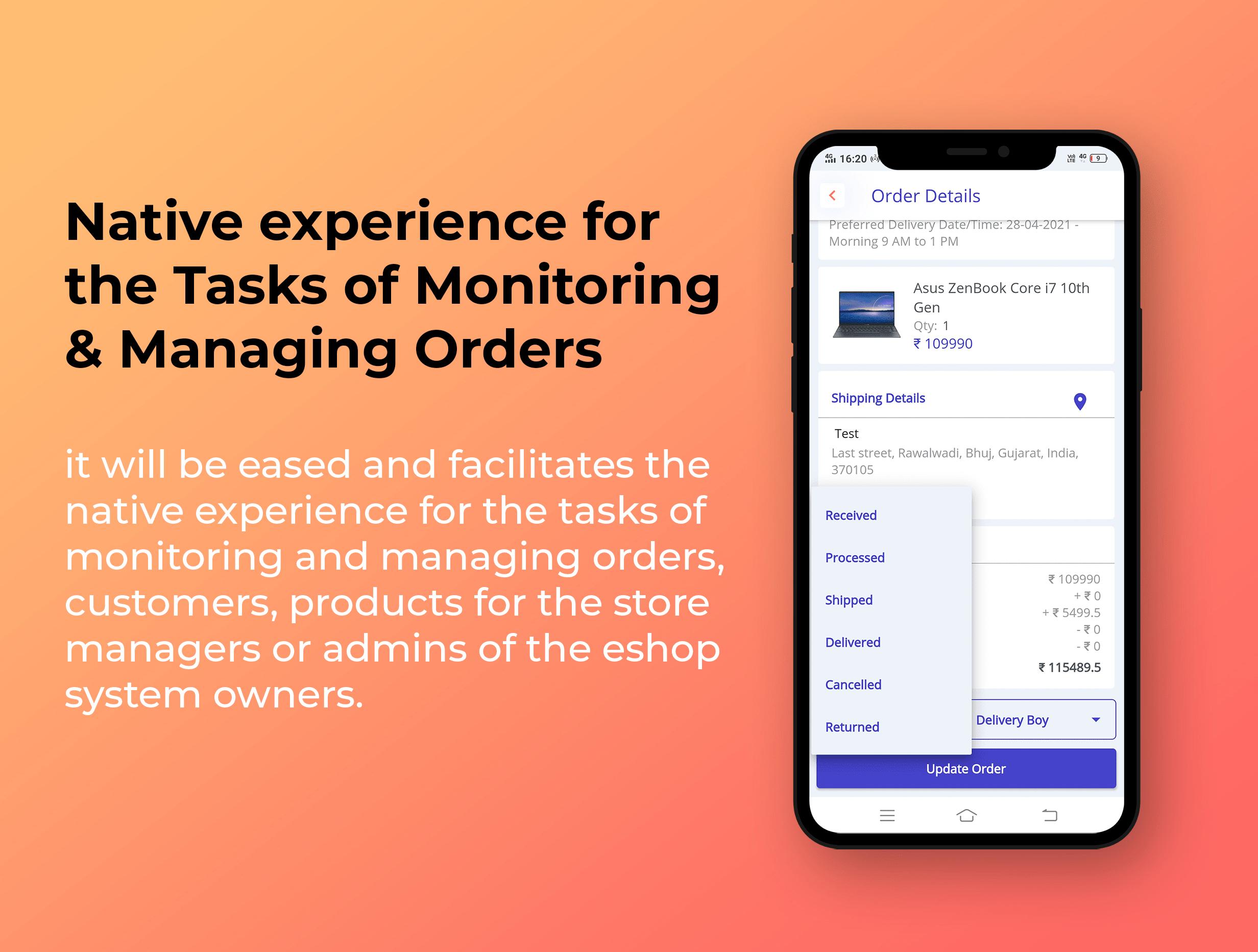 eShop - Ecommerce Admin / Store Manager app - 6
