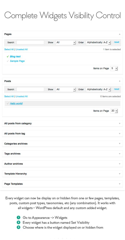 Sidebar & Widget Manager for WordPress - 9