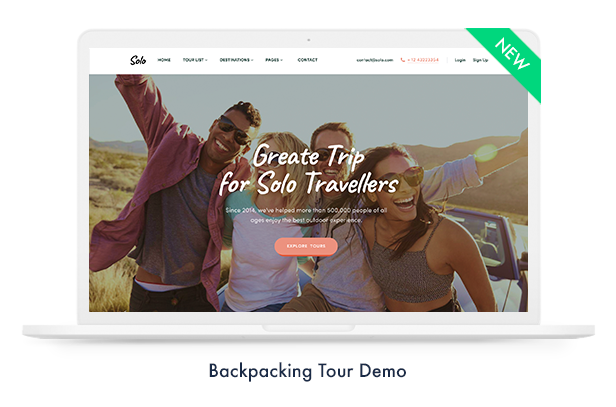 Travel Booking WordPress Theme - 4