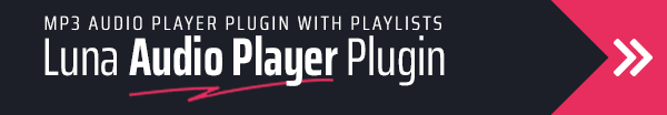 Luna Audio Player Plugin with Playlists and Audio Visualizer