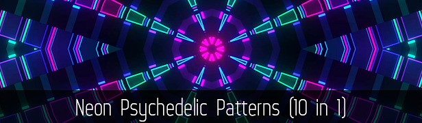 Neon Psychedelic Patterns (10 in 1)