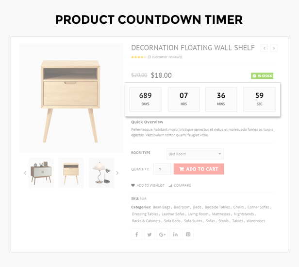 product countdown timer