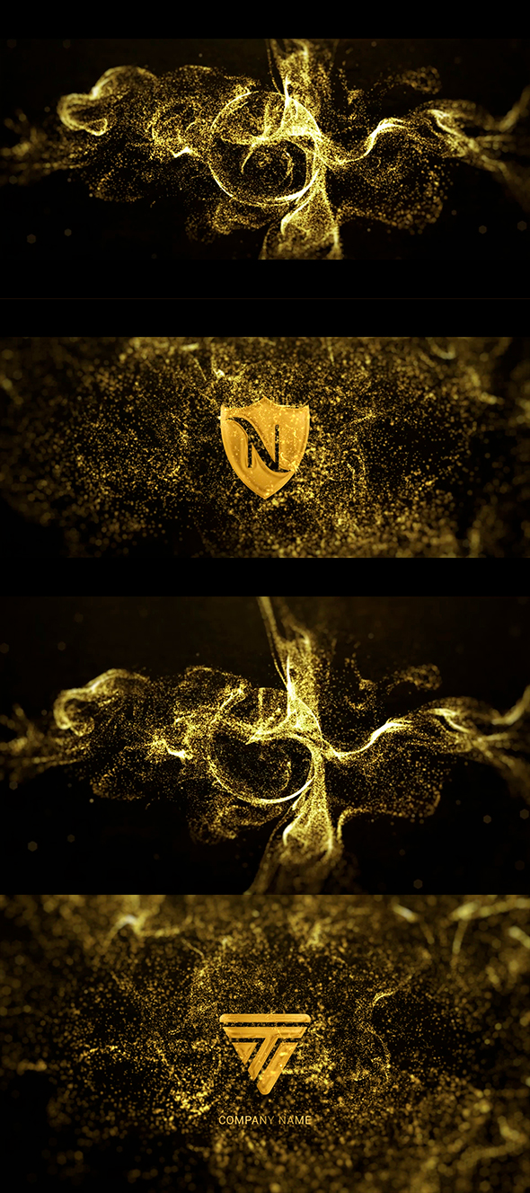 Gold Particle Logo - 1