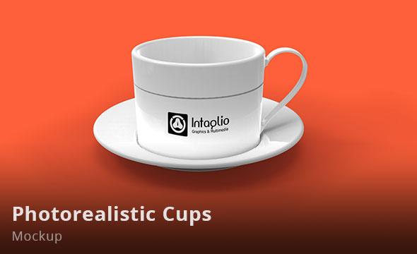 Photorealistic Cups Mockup
