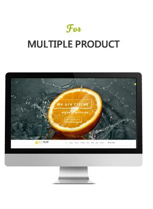 Citrus one page parallax Shopify Theme - 4