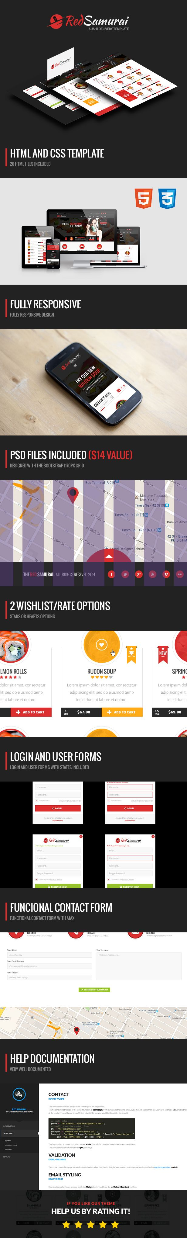 Red Samurai HTML5 and CSS3 Responsive Template - 8