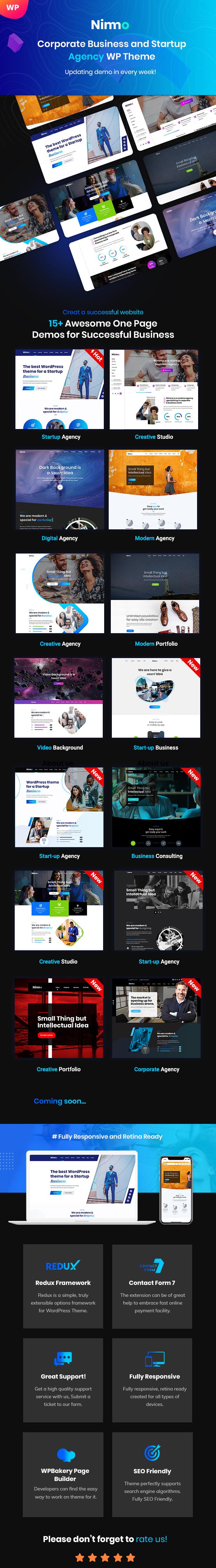 Nimmo 3 - Minimal WordPress Theme for Creative Agency
