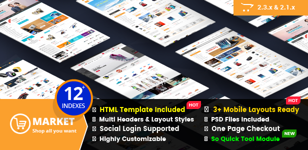 Market - Multipurpose eCommerce HTML Template - 1