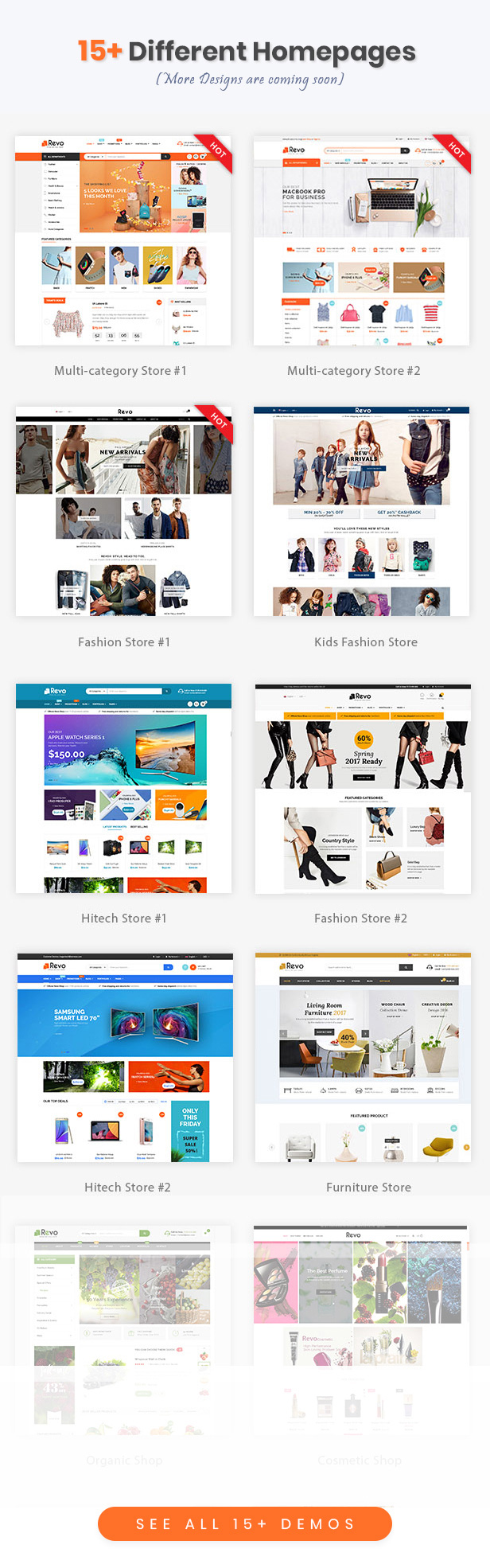 Revo - Drag & Drop Multipurpose OpenCart 3 & 2 3 Theme with 15 Layouts Ready