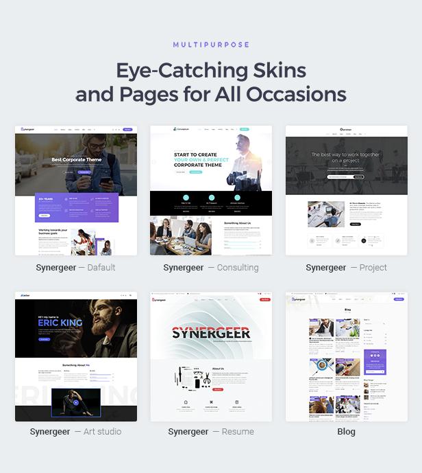 Synergeer - Corporate Creative WordPress Theme - 2