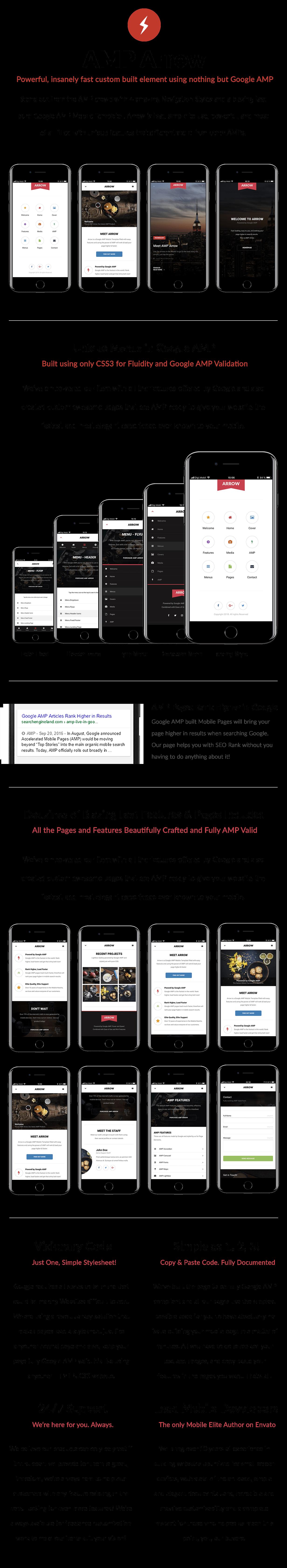 AMP Arrow | Mobile Google AMP Template - 8