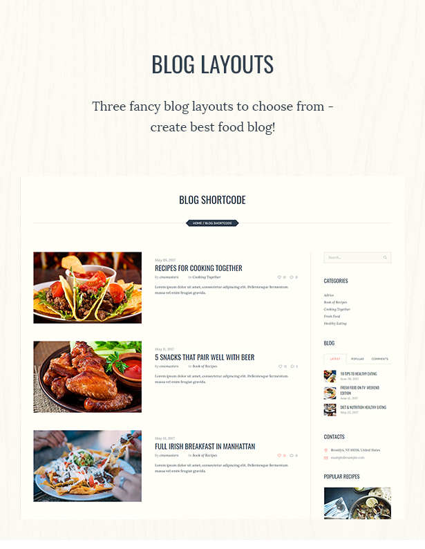 Good food recipe magazine food blogging theme by cmsmasters food culinary food blog blog blogging forumfinder Gallery