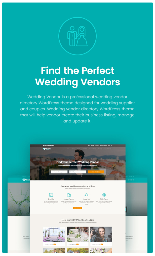 Vendor Directory WordPress Theme | Wedding Vendor by udayraj ...
