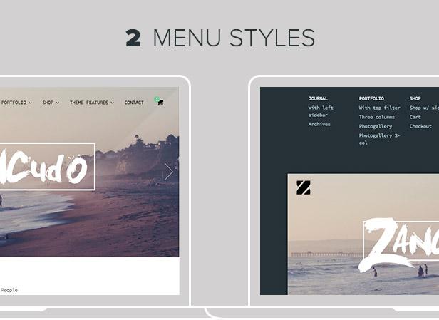 Zancudo - Mighty fullscreen theme for creatives - 8