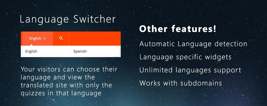 Multilingual plugin for SocioQuiz features