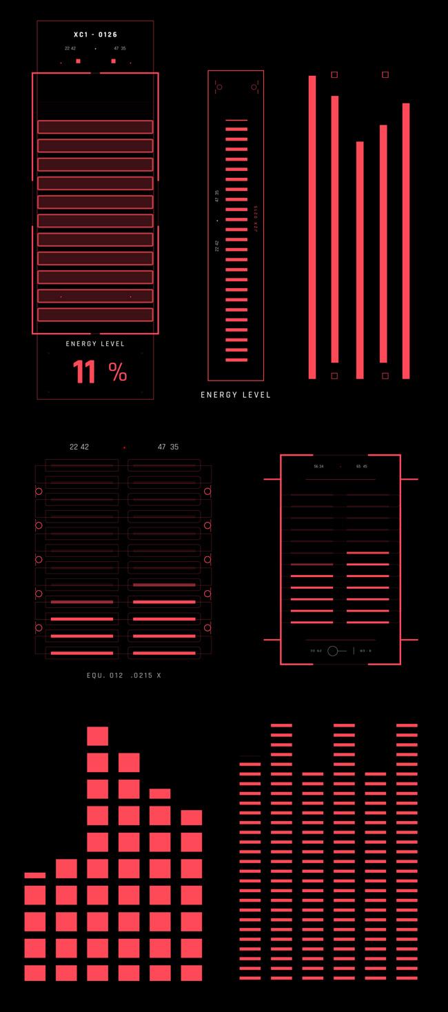AE脚本-500个HUD高科技赛博朋克UI科幻界面元素动画预设包 Cyberpunk HUD UI 500+ 已修复中文版AE表达式报错插图29