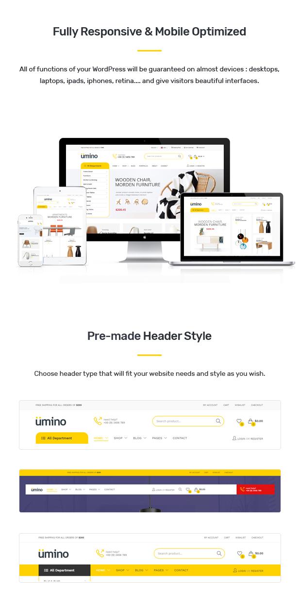Umino - Furniture & Interior for WooCommerce WordPress 26
