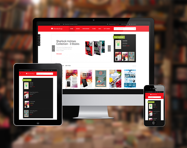 Responsive layout in Magento theme  Bookshop