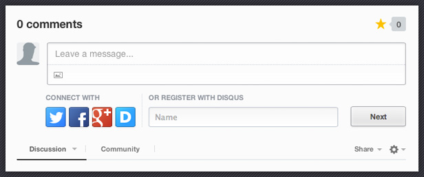 Disqus Integration