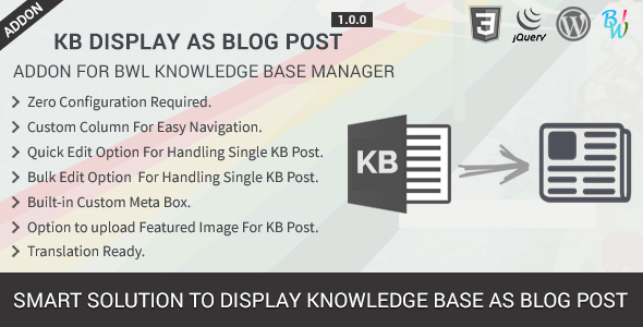 BWL Knowledge Base Manager - 19
