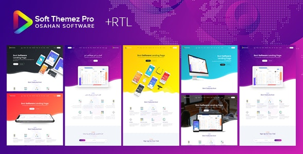 Soft Themez Pro - Software Landing Page Template - Corporate Site Templates