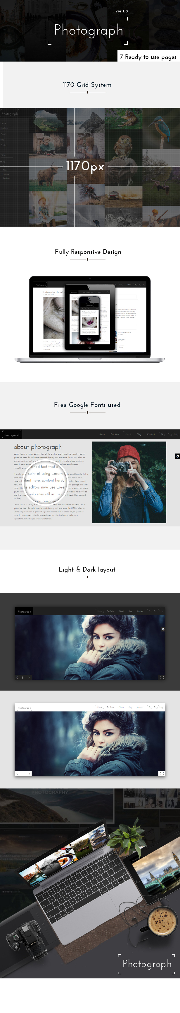 Photograph - Awesome Photography Portfolio Template by venbradshaw