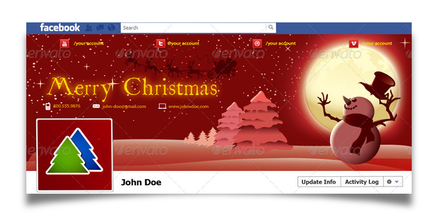 Christmas Real Estate Twitter Cover - 20