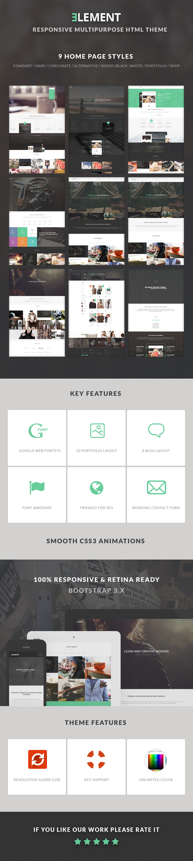 ELEMENT - Multipurpose HTML5 Template by Nunforest | ThemeForest